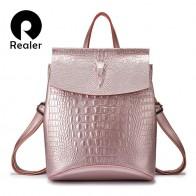 2461.54 руб. 55% СКИДКА|REALER рюкзак женский кожаный сплит кожи, рюкзак школьный для девочек подростков, вместительная женская сумка на плечо-in Рюкзаки from Багаж и сумки on Aliexpress.com | Alibaba Group
