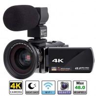 7372.13 руб. 18% СКИДКА|Цифровая HD видеокамера 4k WiFi Ultra 1080 P 48MP 16X ZOOM видеокамера + микрофон + широкоугольный объектив для домашнего использования камера видео рекордер-in Любительские видеокамеры from Бытовая электроника on Aliexpress.com | Alibaba Group