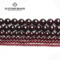 120.98 руб. 47% СКИДКА|Оптовая продажа, природный драгоценный камень Бусины темно красное вино Круглый гранат свободные бусины Ювелирное Производство 15,5