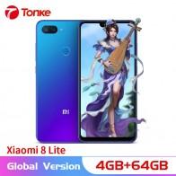 11788.88 руб. 19% СКИДКА|Глобальная версия Xiaomi Mi 8 Lite 4 Гб ОЗУ 64 Гб ПЗУ 6,26