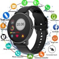 2020 Смарт-часы с полным касанием, мужские Смарт-часы с кровяным давлением, женские водонепроницаемые часы с пульсометром, спортивные часы для Android IOS - Умные часики