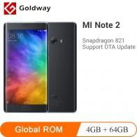11970.08 руб. |Оригинальный Xiaomi Mi Note 2 мобильный телефон двойной 3D изогнутое стекло Snapdragon 821 4 Гб ОЗУ 64 Гб ПЗУ 5,7