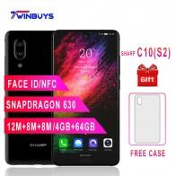 US $118.76 26% OFF SHARP AQUOS C10 S2 mobile phones Android 8.0 4GB+64GB 5.5