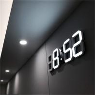 817.02 руб. 25% СКИДКА|3D светодиодный настенные часы современный дизайн цифровые настольные часы будильник ночник Saat reloj de pared часы для дома гостиной украшения-in Настенные часы from Дом и сад on Aliexpress.com | Alibaba Group