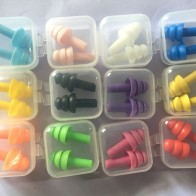 6Pairs box-packed comfort earplugs noise reduction silicone Soft Ear Plugs Swimming Silicone Earplugs Protective for sleep
