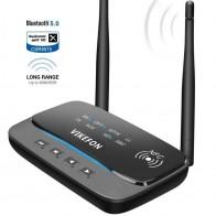 NFC 262ft/80m большой диапазон Bluetooth 5,0 передатчик приемник 3в1 музыкальный аудио адаптер с низкой задержкой aptX HD Spdif RCA AUX 3,5 мм ТВ-in Беспроводные адаптеры from Электроника on AliExpress