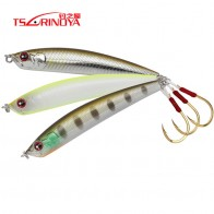 TSURINOYA Fishing Lure DW57 Single Hook Sinking Pencil Hard Lure 80mm 14.3g Long Casting Wobblers MInnow Tremor Pencil Bass Bait