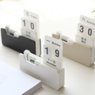 Vintage Style PP Perpetual Calendar DIY Calendar Art Crafts Home Office School Desk Decoration Gifts-in Calendar from Education & Office Supplies on AliExpress