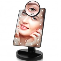 332.84 руб. |22 светодиодный свет Сенсорный экран зеркало для макияжа дропшиппинг со скидкой цена 1X 10X яркий регулируемый USB или батареи Применение 16 огни-in Зеркала для макияжа from Красота и здоровье on Aliexpress.com | Alibaba Group