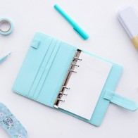 US $7.92 26% OFF|Cute A5/A6 Leather Notebook Cover Loose Leaf Refill Spiral Binder Kawaii Stationary Papelaria Planner Diary Replacement Cover-in Notebooks from Office & School Supplies on Aliexpress.com | Alibaba Group