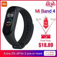 1609.0руб. 29% СКИДКА|2019 оригинальный Xiaomi Mi браслет, 4 в наличии, новейший Xiaomi Mi браслет, 4 браслета, пульсометр, фитнес, 135 мА/ч, цветной экран, Bluetooth 5,0-in Смарт-браслеты from Бытовая электроника on AliExpress - 11.11_Double 11_Singles