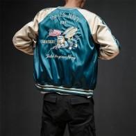 1990.55 руб. 10% СКИДКА|Двусторонняя Роскошная куртка бомбер с вышивкой, гладкая мужская куртка sukayang Yokosuka, Сувенирная Куртка, уличная бейсбольная куртка в стиле хип хоп-in Куртки from Мужская одежда on Aliexpress.com | Alibaba Group