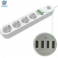 US $18.17 30% OFF|European Plug Power Strip With Switch 4 Outlets Fast USB Charging Multi Extension Socket Cord Cable 2.0M Surge Protector-in Extension Socket from Consumer Electronics on Aliexpress.com | Alibaba Group