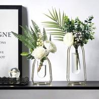 Скандинавское украшение для дома в скандинавском стиле для домашнего растения позолоченная стеклянная ваза креативное украшение для дома...