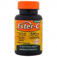 American Health, Ester-C, 500 mg, 90 Veggie Tabs - Vitamin C