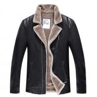 10229.38 руб. 5% СКИДКА|Большие размеры 8XL 7XL зимняя кожаная куртка для мужчин модный бренд коричневый овчины куртки и пальто будущих мам с шерстяной подкладк купить на AliExpress