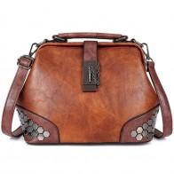 US $15.86 14% OFF|Women Handbag Leather Small Doctor Bag Women Shoulder Bag Female Crossbody Handbag Lock Chain Rivets Girls Vintage Women Bags-in Shoulder Bags from Luggage & Bags on Aliexpress.com | Alibaba Group