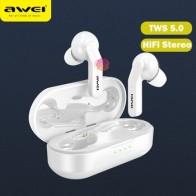 AWEI T10C TWS Bluetooth V5.0 наушники Беспроводная гарнитура сенсорное управление наушники Беспроводная зарядка для xiaomi iPhone