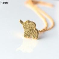 Ожерелье с изображением слона hzew Min 1 шт. золотистого и серебристого цвета - Украшения до 300 руб