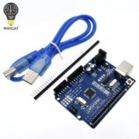 US $2.93 10% OFF|WAVGAT high quality One set UNO R3 (CH340G) MEGA328P for Arduino UNO R3 + USB CABLE ATMEGA328P AU Development board.-in Integrated Circuits from Electronic Components & Supplies on Aliexpress.com | Alibaba Group