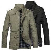 1287.54 руб. 49% СКИДКА|2019 Мужская куртка, пальто длинная куртка с секциями Модный плащ Для мужчин ветровка бренд Повседневное зауженное пальто куртки верхняя одежда больших размеров 5XL-in Куртки from Мужская одежда on Aliexpress.com | Alibaba Group