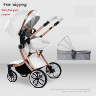 Bolina Free Shipping Baby Stroller High Landscape Carriage 2018 New  2 in 1  Pram Similar to Aulon