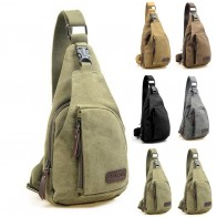 US $1.95 39% OFF|2018 Brand New Men Vintage Canvas Leather Satchel Shoulder Sling Chest Pack Bag-in Waist Packs from Luggage & Bags on Aliexpress.com | Alibaba Group