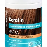 Маска для волос Keratin 1000 мл, Dr.Sante