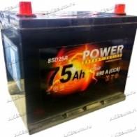 Аккумулятор автомобильный POWER Asia 75 А/ч 690 А обр. пол. 85D26L Азия авто (260x175x220) с бортиком