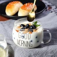 С буквенным принтом, прозрачные креативные стеклянные кофейные чайные напитки для десерта, чашка для завтрака, чашка для молока, стеклянные... - Кружки ☕