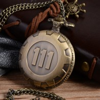 US $2.93 27% OFF|Cindiry Vintage Fashion Quartz Pocket Watch Silver Gold Game Fallout 4 Vault 111 Steampunk Women Man Necklace Pendant with Chai-in Pocket & Fob Watches from Watches on Aliexpress.com | Alibaba Group