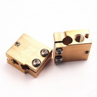 Funssor High Temperature Copper volcano cartridge type heater block sensor/thermistor/PT100 sensor block V6 hotend