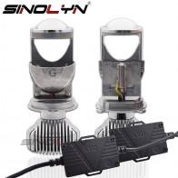 SINOLYN H4 9003 светодио дный Мини Би светодио дный проектор 1,5 дюймов фар линзы 60 Вт 5500 К фары модернизации DIY стайлинга автомобилей высокого низких огней купить на AliExpress