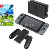 Купить Игровая консоль NINTENDO Switch с игрой The Legend of Zelda breath of the Wild,  серый в интернет-магазине СИТИЛИНК, цена на Игровая консоль NINTENDO Switch с игрой The Legend of Zelda breath of the Wild,  серый (1090503)