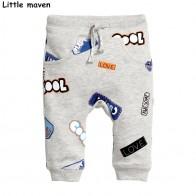 US $9.11 49% OFF|Little maven 2017 Autumn baby boy clothing cotton drawstring pants children