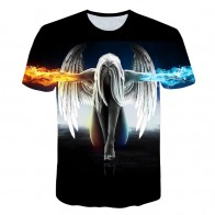 US $7.04 45% OFF|2019 new Big yards New Fashion Brand T shirt Men/Women Summer 3d Tshirt Print angel T shirt Tops Tee-in T-Shirts from Men