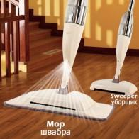 3-в-1 спрей-Швабра Метла набор волшебная Швабра деревянный пол плоские швабры инструмент для домашней уборки бытовой с многоразовые микрофи...