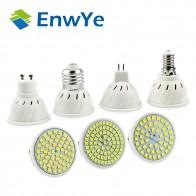 EnwYe E27 E14 MR16 GU10 лампада светодио дный лампы 220 В 240 В Bombillas светодио дный лампы 48 60 80 светодио дный 2835 SMD Lampara месте cfl купить на AliExpress