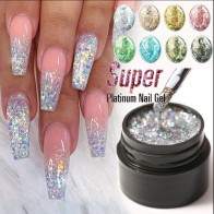 US $0.95 50% OFF|Modelones Platinum Glitter Led Gel Soak Off Nail Gel Lacquer Shiny Sequins Decorations UV Gel Varnish Painting Flowers UV Polish-in Nail Gel from Beauty & Health on AliExpress - 11.11_Double 11_Singles