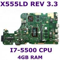 13339.01 руб. |X555LDB MB. _ 4G/I7 5500U/AS GT820M V2G Материнская плата Asus R556UB R556L X555L X555LD X555LA Материнская плата ноутбука 100% тестирование-in Материнские платы from Компьютер и офис on Aliexpress.com | Alibaba Group