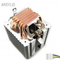 1389.55 руб. 15% СКИДКА|Высококачественный 4 контактный кулер для процессора 115X1366 2011,6 heatpipe двухбашенный Вентилятор охлаждения 9 см, Поддержка Intel AMD-in Вентиляторы и охлаждение from Компьютер и офис on Aliexpress.com | Alibaba Group