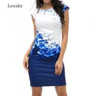 Короткое платье Lossky женское без рукавов, с круглым вырезом