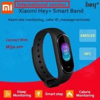 306.69 руб. 40% СКИДКА|В наличии Xiaomi Hey Plus Smartband 0,95 дюймов AMOLED цветной экран встроенный многофункциональный NFC монитор сердечного ритма Hey + Band-in Смарт-браслеты from Бытовая электроника on Aliexpress.com | Alibaba Group
