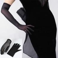 227.17руб. 31% СКИДКА|Сексуальные кружевные солнцезащитные перчатки для женщин, летние весенние длинные однотонные черные прозрачные эластичные анти УФ оперные перчатки для вождения, размер 55 см-in Женские перчатки from Аксессуары для одежды on AliExpress - 11.11_Double 11_Singles