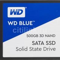 SSD накопитель WD Blue WDS500G2B0A 500Гб