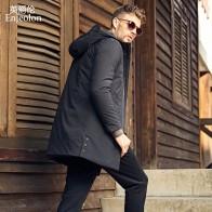 US $49.35 53% OFF|Enjeolon Brand Winter Thick Long Jacket Coat Men Long Coat Hoodies Men Jcaket Long Parka Jacket men warm 3XL Coat Men MF0624-in Parkas from Men