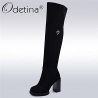 3045.22 руб. 48% СКИДКА|Odetina/модные черные ботфорты на высоком квадратном каблуке; женские теплые зимние сапоги на платформе; Сапоги выше колена на молнии с металлическим украшением-in Ботинки закрывающие колени from Туфли on Aliexpress.com | Alibaba Group