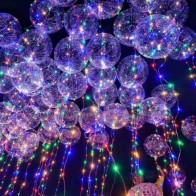 136.31 руб. 33% СКИДКА|18 дюймов ясно воздушный шар латекса с светодио дный полосы 3 м Медный провод световой светодио дный шары для украшения свадьбы День рождения поставки купить на AliExpress