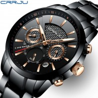US $25.99 80% OFF CRRJU Men Watch 30m Waterproof Mens Watches Top Brand Luxury Steel Watch Chronograph Male Clock Saat relojes hombre -in Quartz Watches from Watches on Aliexpress.com   Alibaba Group