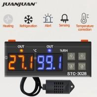 STC-3028 контроллер температуры термостат контроль влажности термометр контроллер гигрометра терморегулятор 12В/24В/220В 40%